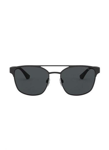 Emporio Armani 0Ea2093 Plastik Kare Çerçeve Cam Erkek Güneş Gözlüğü Siyah